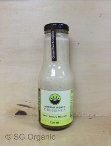 sweet honey mustard gourmet organic dressing