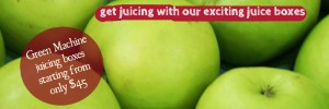 Get juicing with our exciting juice boxes. Green machine juicing boxes starting from only $45!